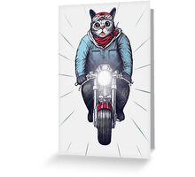 Cafe Racer Cat Speedo Greeting Card