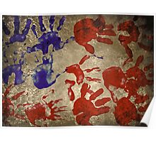 american flag handprints 2 Poster