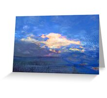 Blue Sky on a Snowy Morning Greeting Card