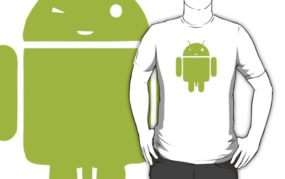 Android Stud - Cool Funny Android Men T-Shirt by Denis Marsili
