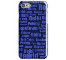pattern with cities names iPhone Case/Skin
