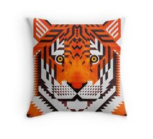 Triangle Tiger Throw Pillow