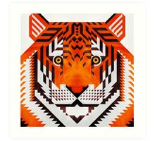 Triangle Tiger Art Print