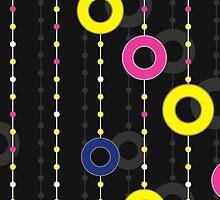 pattern with circles on thread by Marishkayu
