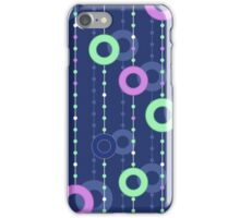 colorful circles on thread iPhone Case/Skin