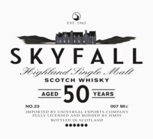 Skyfall Scotch Whisky Black by Crocktees