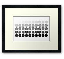 50 Shades of Grey Framed Print