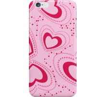 pattern with pink hearts iPhone Case/Skin