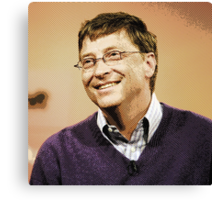celebrities  bill gates 2 Canvas Print