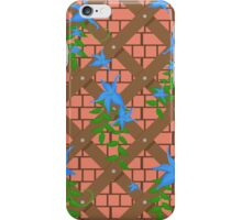 wicker with blue flowers iPhone Case/Skin