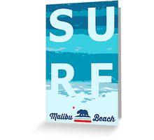Malibu - California. Greeting Card