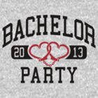 Bachelor Party 2013 Handcuffs by Cheesybee