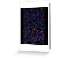 USGS TOPO Map New Hampshire NH Kingston 329615 1981 24000 Inverted Greeting Card