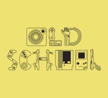 Old School Gamer (Black Type) Kids Clothes