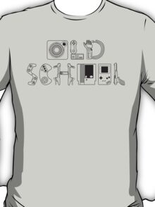 Old School Gamer (Black Type) T-Shirt