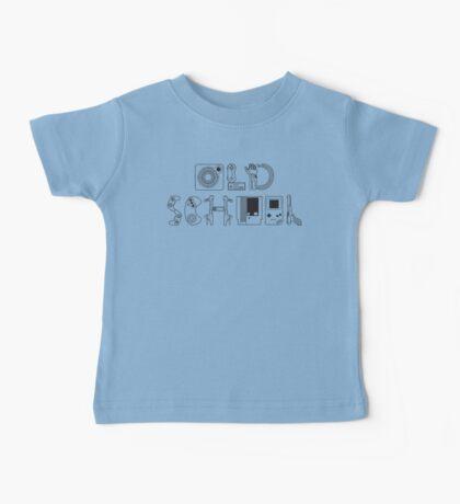 Old School Gamer (Black Type) Baby Tee