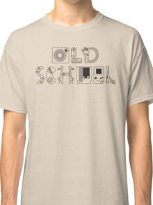 Old School Gamer (Black Type) Classic T-Shirt