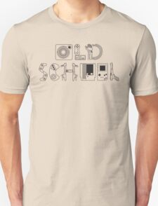 Old School Gamer (Black Type) Unisex T-Shirt