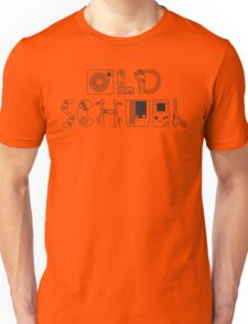 Old School Gamer (Black Type) Unisex T-Shirt