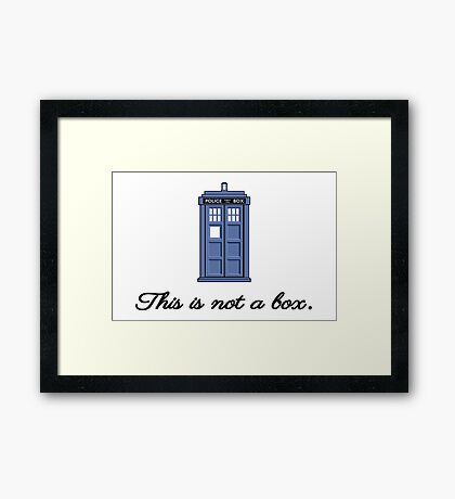 This is not a box Framed Print