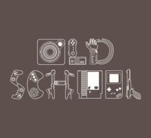Old School Gamer (White Type) Baby Tee