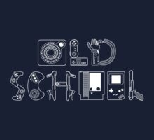 Old School Gamer (White Type) Baby Tee