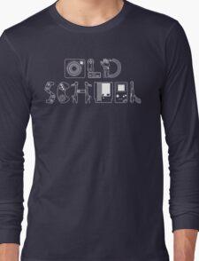 Old School Gamer (White Type) Long Sleeve T-Shirt