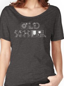 Old School Gamer (White Type) Women's Relaxed Fit T-Shirt