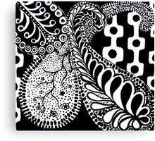 CEM-Black-White-001-Contemporary Ethnic Mix Canvas Print