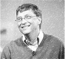 celebrities bill gates Photographic Print