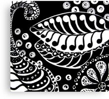 CEM-Black-White-003-Contemporary Ethnic Mix Canvas Print