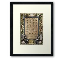 Witches Alphabet Framed Print