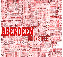 Aberdeen City Text Map by sarahrosephotos
