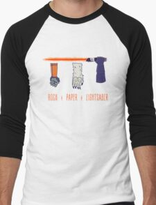 Rock Paper Lightsaber Men's Baseball ¾ T-Shirt