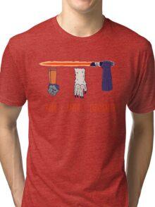 Rock Paper Lightsaber Tri-blend T-Shirt