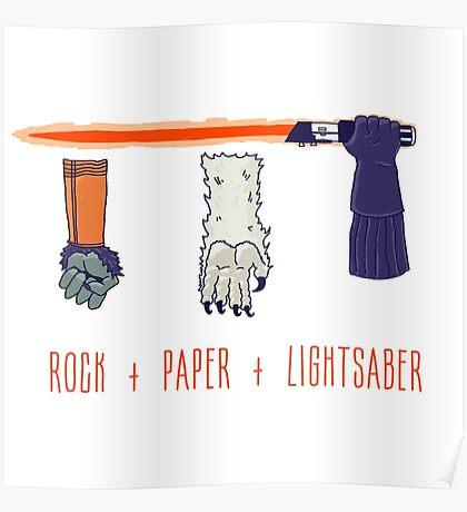 Rock Paper Lightsaber Poster