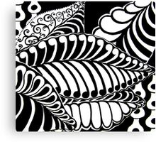 CEM-Black-White-006-Contemporary Ethnic Mix Canvas Print