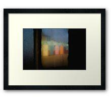 Beach huts, Brighton & Hove, England Framed Print
