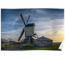 windmill at sunset Poster