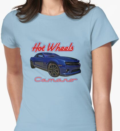 Hot Wheels Camaro Poster Womens Fitted T-Shirt