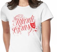 Mardi Gras Womens Fitted T-Shirt
