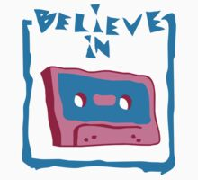 believe in cassette Kids Clothes
