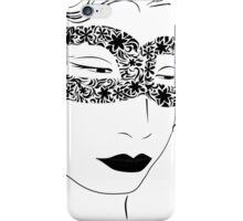 woman in the mask iPhone Case/Skin