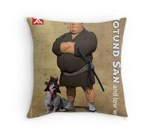 Rotund-San Throw Pillow