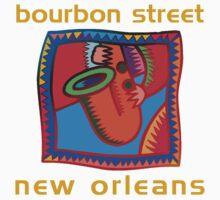 Mardi Gras Bourbon Street New Orleans Kids Tee