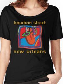 Mardi Gras Bourbon Street New Orleans Women's Relaxed Fit T-Shirt