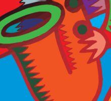 Mardi Gras Bourbon Street New Orleans Sticker
