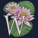 W is for Water Lily patch by Stephanie Smith