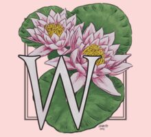W is for Water Lily patch Kids Tee