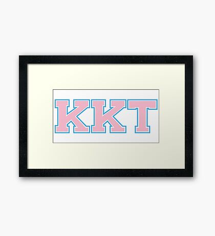 Kappa Kappa Tau Framed Print